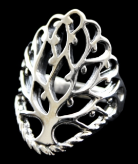 Ring Lebensbaum, Silber 925