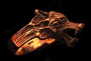 Ring Wolf Geri, Bronze