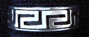 Ring Mäander Ornamentik, Silber 925
