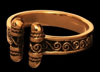 Ring Wikinger Spiralen, Bronze