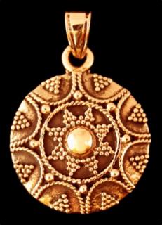 Amulett Anhänger Goldene Sonne, Bronze