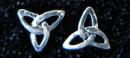 Ohrstecker Charmed Dreierknoten, Silber 925, 1 Paar