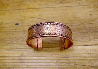 Armreif Celtic-Pentagramm, Kupfer