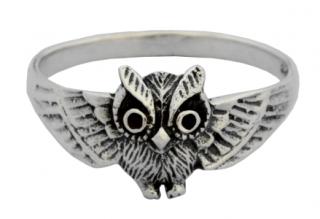Ring Eule, Silber 925 18,5 / 58