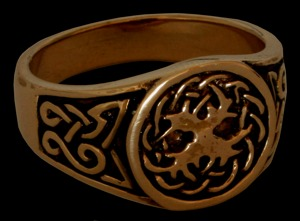 Siegelring Weltenesche Celtic, Bronze 22 / 70