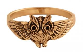 Ring Eule, Bronze 18,5 / 58