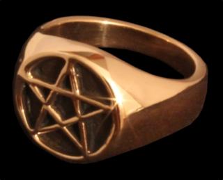 Siegelring Pentagramm, Bronze 22 / 70