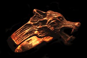 Ring Wolf Geri, Bronze 18,5 / 58