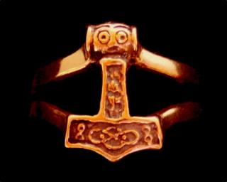 Ring Thors Hammer, Bronze 18,5 / 58