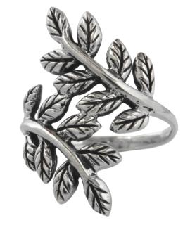 Ring Blätter der Yggdrasil, Silber 925 18 / 56