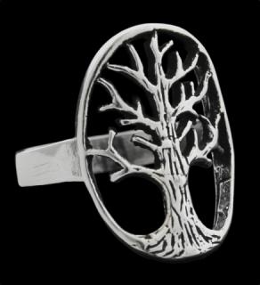 Ring Weltenbaum, Silber 925 18 / 56