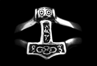 Ring Thors Hammer, Silber 925 18 / 56