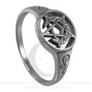 Ring Sichelmond mit Pentagramm von Dryad Design, Silber 925 18,8 / 62,3