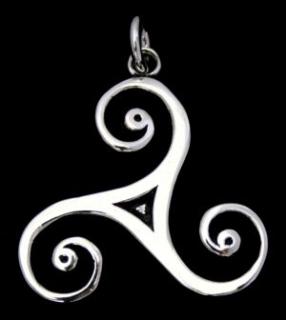 Amulett Anhänger Triskele groß, fein gearbeitet, Silber 925