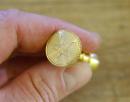 Mini Petschaft Siegel Pentagramm, Messing massiv