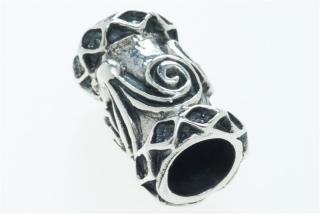 Bartperle und Lockenperle Doppelspirale, Silber 925