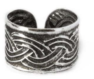Ohrklemme, Bartperle  Keltisches Flechtwerk, Silber 925