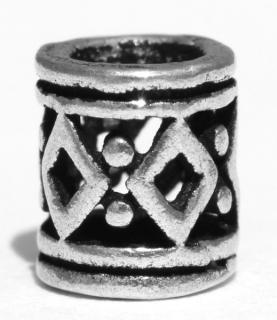 Bartperle und Lockenperle Raute klein, Silber 925