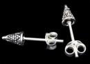 Ohrstecker Spitze verziert, Silber 925, 1 Paar