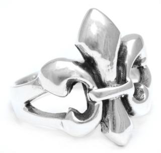 Ring Schwertlilie, Fleur de Lys, Silber 925 17 / 54