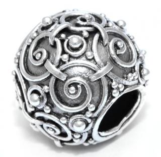 Bartperle  Wikinger Askur, Silber 925, handgeschmiedet