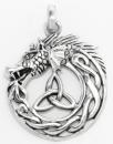 Amulett Anhänger Midgardschlange, Silber 925