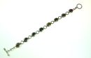 Armband, massiv Silber 925, mit 8 farbigen Turmalinen,...