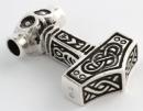 Amulett Anhänger Thor Hammer,  Mjölnir, Silber 925