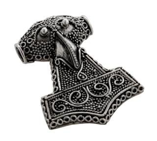 Amulett Anhänger Thor Hammer,  handgearbeitet, Silber 925