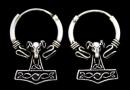 Ohrhänger, Creolen Widder Hammer, Silber 925, 1 Paar