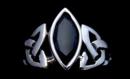 Ring Isea mit schwarzem Zirkonia, Silber 925