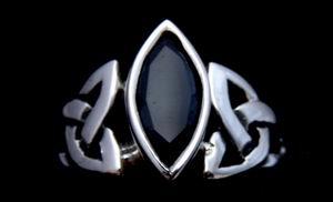 Ring Isea mit schwarzem Zirkonia, Silber 925 16 / 50