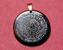 Amulett Anhänger Runenspirale, Rinderhorn
