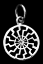 Amulett Anhänger Wikinger Sonnenrad klein, Silber 925