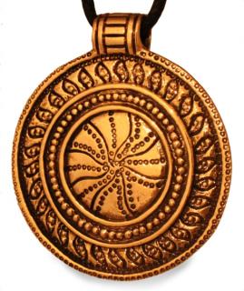Amulett Anhänger Wikinger Sonnenrad Sonnenamulett, Bronze