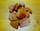 Wassersteine Jaspis rot Rohsteine, 100g