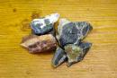 Wassersteine Heliotrop Rohsteine, 100g