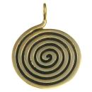 Amulett Anhänger Keltische Spirale, Bronze