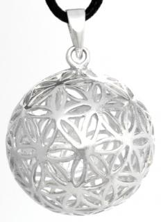Amulett Anhänger Zauberkugel Blume des Lebens, Silber 925