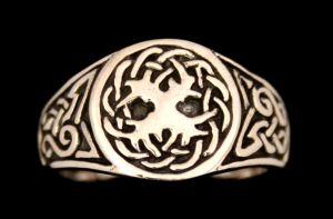 Siegelring Weltenesche Celtic, Silber 925 21,5 / 68