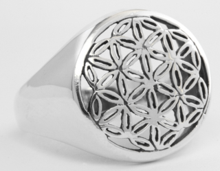 Ring Blume des Lebens, Silber 925