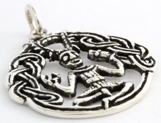 Amulett Anhänger Cernunnos 1, Silber 925