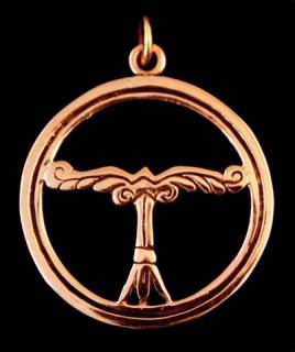 Amulett Anhänger Irminsul, Bronze