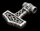 Amulett Anhänger Thors Hammer groß, Silber 925