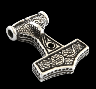 Amulett Anhänger Thors Hammer Scania Schweden, Silber 925