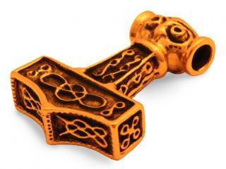 Amulett Anhänger Raghnall Thors Hammer, Bronze