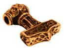 Amulett Anhänger Donar Thors Hammer, Bronze