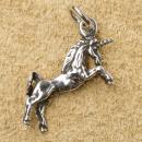 Amulett Anhänger Einhorn, dreidimensional, Silber 925