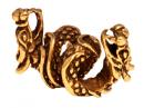 Bartperle und Lockenperle Drache 3, Bronze