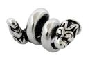 Bartperle und Lockenperle Keltische Hunde, Silber 925